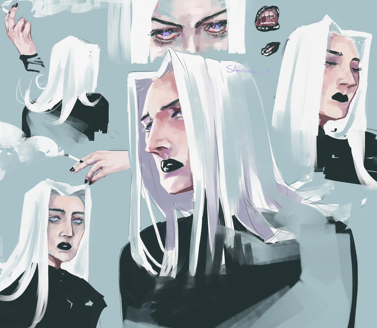a page of abbacchio sketches bc fuck happiness <br>http://pic.twitter.com/C3jQgxDI97