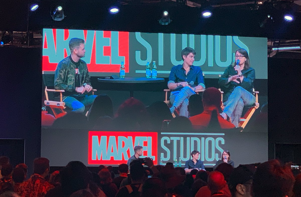 The team behind #Endgame  watched Game of Thrones do the Battle of the Bastards and decided they have to do something bigger and better with their final fight.   Victoria Alonso hopes the VFX team will win an Oscar for it. #D23Expo <br>http://pic.twitter.com/lxI14TlRil