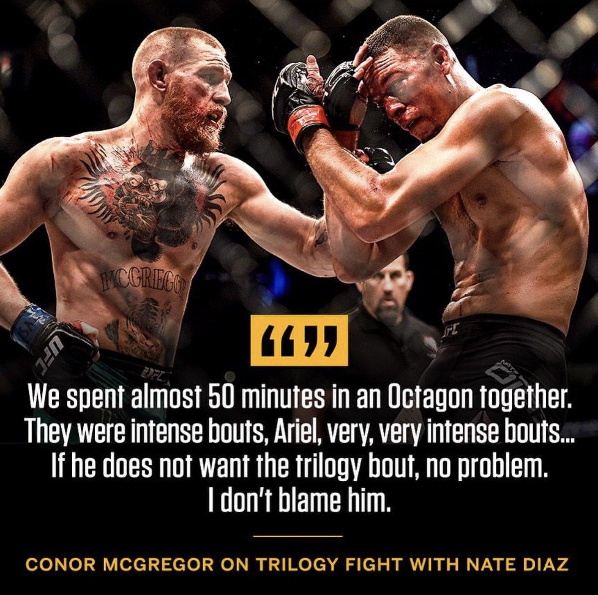 Conor won't wait for Nate (via @arielhelwani) https://t.co/Zgry9ZF57R