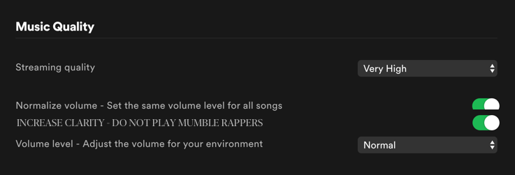 feature request for @Spotify