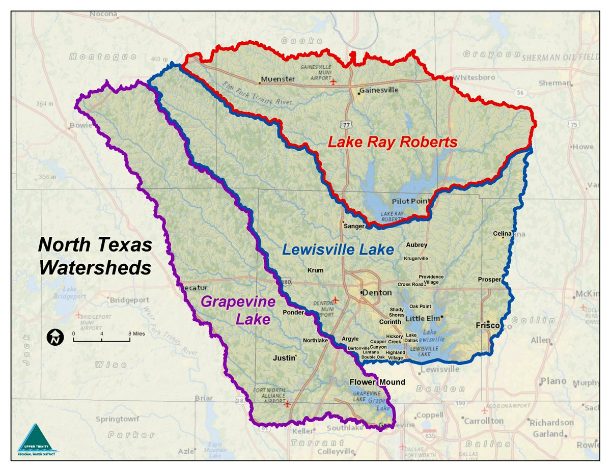 upper trinity river watershed - HD1200×927
