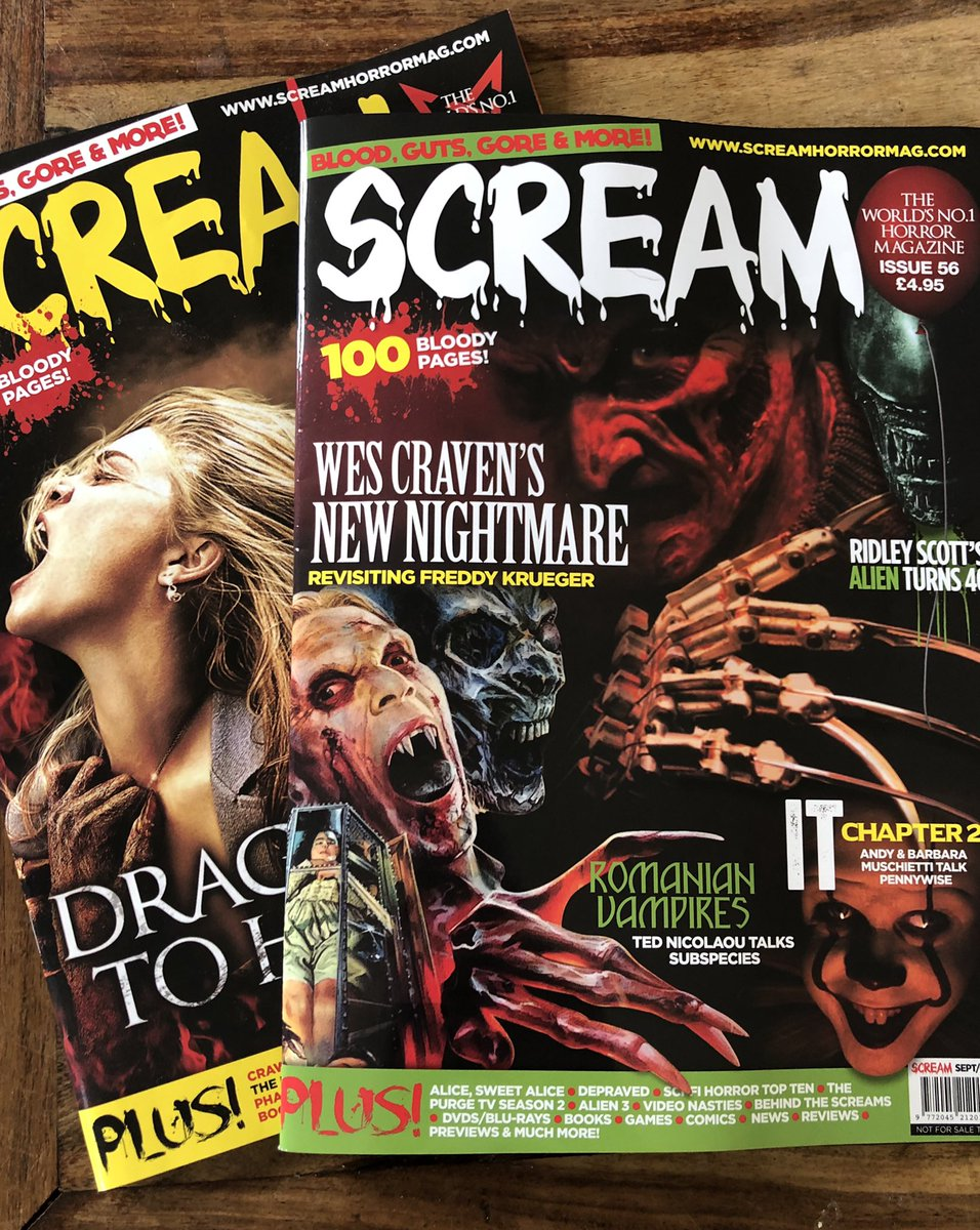 Just received my contributor copy of @ScreamHorrorMag for Sep/Oct 2019. It is FILLED with awesome articles, photos and my book reviews: RITES OF EXTINCTION @MattFini THE RESURRECTIONISTS @MikeH5856 UNDER ROTTING SKY @HumboldtLycan #promotehorror<br>http://pic.twitter.com/CRIATQFgSr