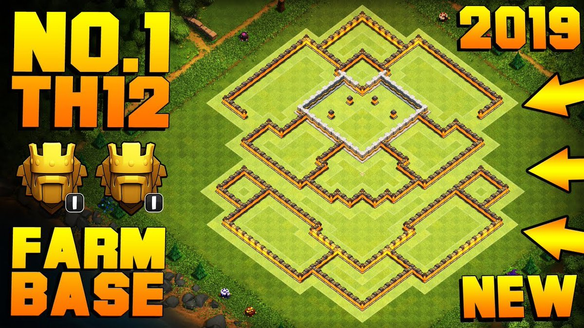 """notonlyvideogames على تويتر: """"BEST TH12 FARMING BASE TITANS 2019 w/ PROOF!!  