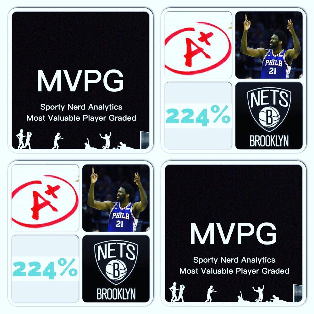 #NBA Playoffs  Date: 4/20/19 Score: #76ers 112 - #Nets 108  Tm: #Philadelphia76ers Pl: #JoelEmbiid  Pos: C  Ht: 7'0  Wt: 250 lbs  College: #Kansas  PGG: 224% = A+  Vs: #BrooklynNets @NBA  #Basketball (Seeking Sponsorship) (Seeking Sponsorship/YOUR AD HERE) - Marlawn https://t.co/IsV46kqtqP