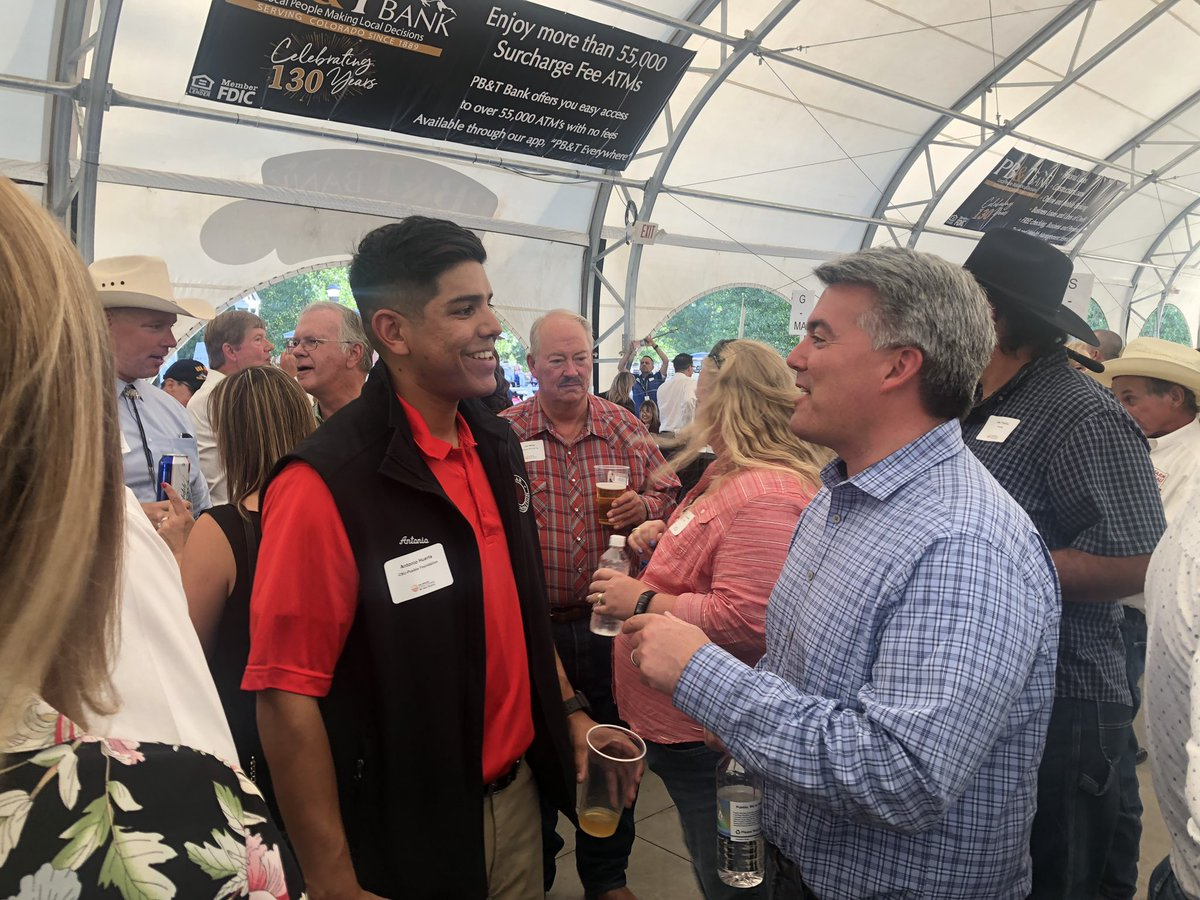 Great to be back in Pueblo at the State Fair this weekend. #copolitics