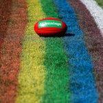 Image for the Tweet beginning: 🌈   #pridegame #AFLSwansSaints