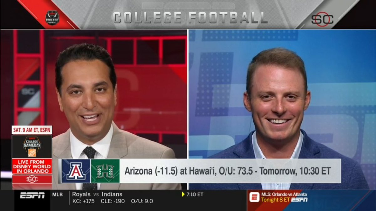 Both anchoring the same @SportsCenter show right now on @espn: @KNegandhiESPN & Zubin Mehenti!! @aaja @SAinSports
