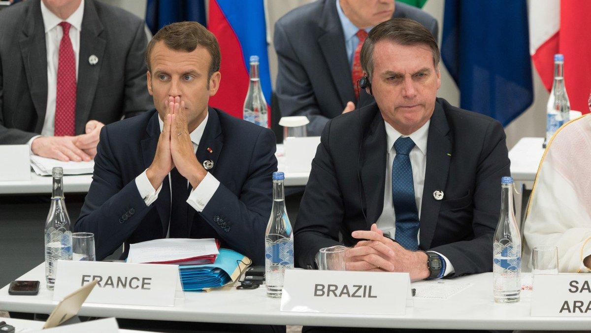 Amazonie: le président brésilien accuse Macron de vouloir fomenter la haine contre le Brésil par simple vanité bfmtv.com/international/…