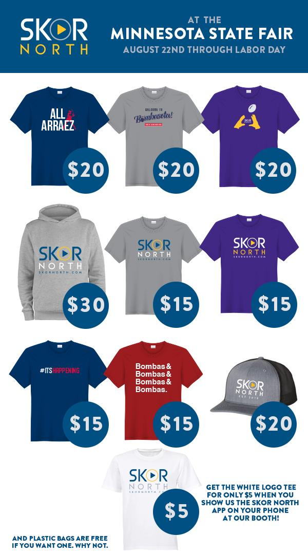 """SKOR North on Twitter: """"Which shirt is your favorite?! Stop by our booth at  the #mnstatefair to grab one of these!… """""""
