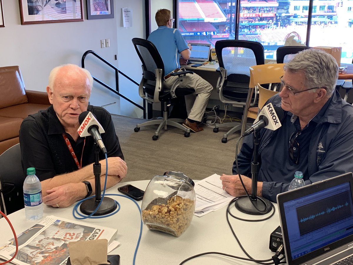 Stay tuned tonight after #STLCards game on #KMOX to hear former GM Walt Jocketty & longtime trainer Barry Weinberg join Mike Shannon & @claibsonline for an hour. #TimeToFly #Cardinals