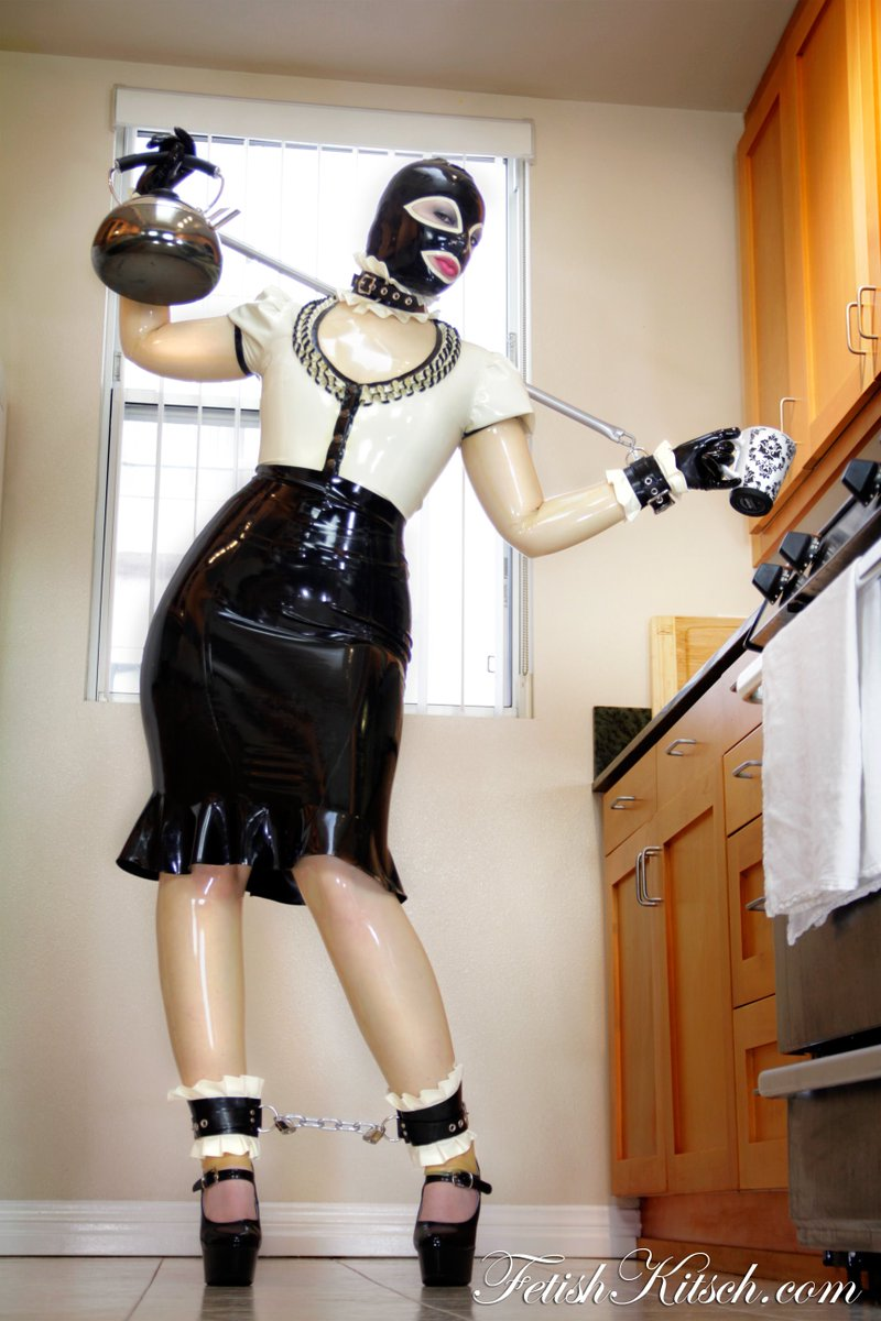 Latex Maid Has Some Fun