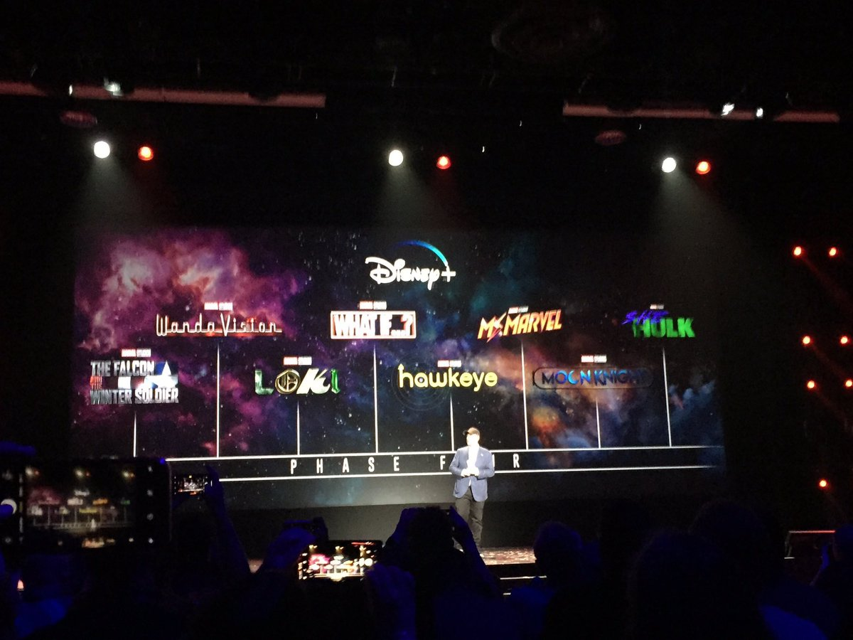here's a look at the marvel series coming to #DisneyPlus #D23Expo