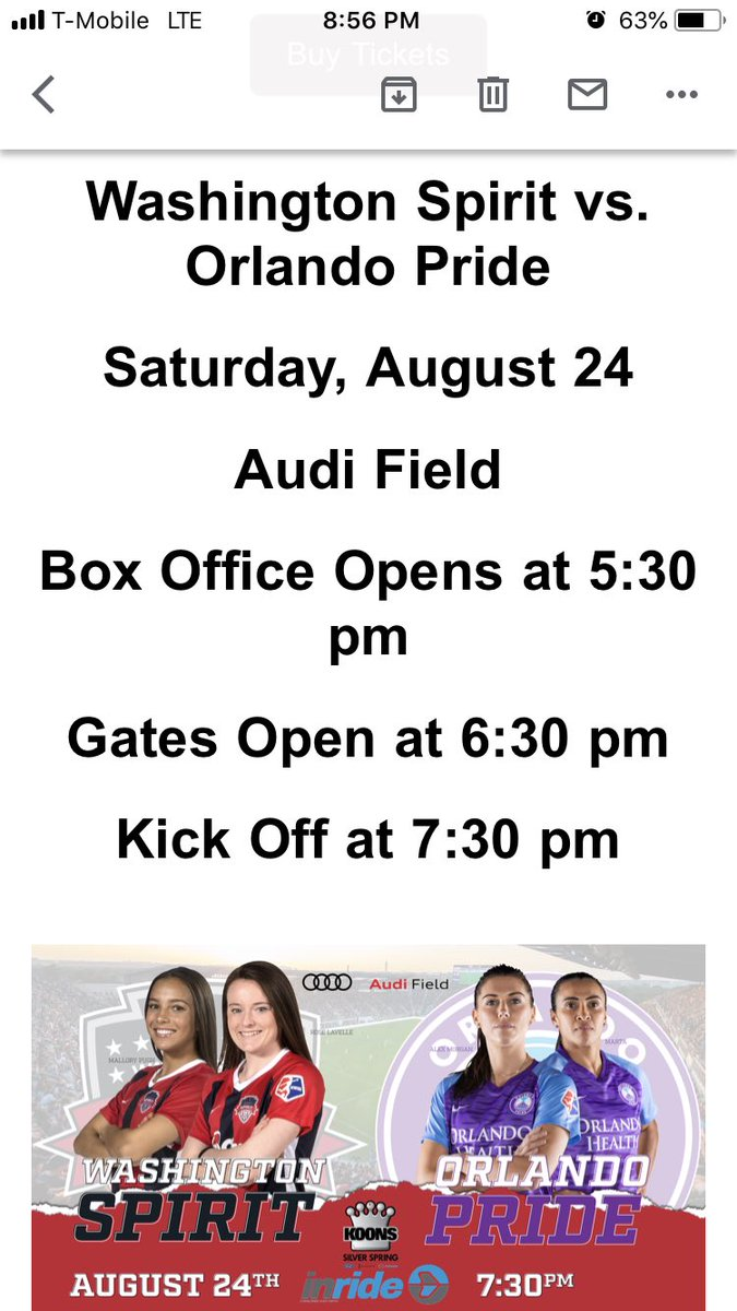 Rose Lavelle, Mallory Pugh, Ashlyn Harris, Ali Krieger, Alex Morgan and MARTA are all going to be at Audi Field tomorrow and I'm FREAKIN out. Somehow there are still a few tickets left for sale, too. Who is going?? #uswnt @WashSpirit https://t.co/hWr9jkWv8b