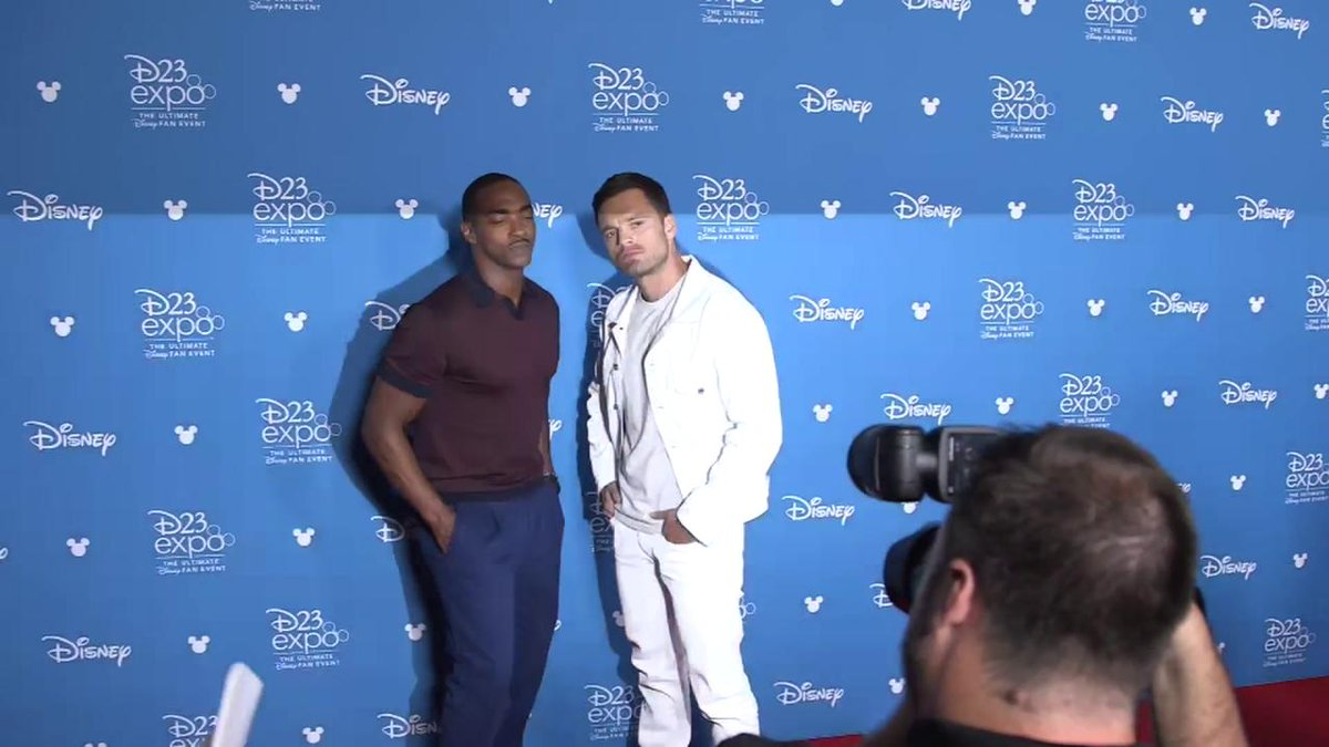 RT @Variety: Falcon and Bucky pose for the cameras at #D23Expo https://t.co/XpmDI8VRvv