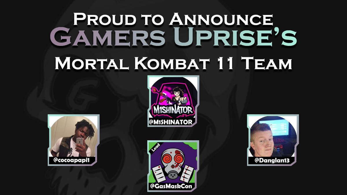We're proud to announce our Tekken 7 and Mortal Kombat 11 teams. Welcome to the family #Uprise<br>http://pic.twitter.com/JTRWm6npio