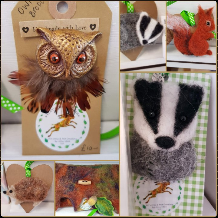 Fab stock from the uber talented fleet footed hare #feltart #felties #handmadehour #ukgiftam #crafturday #womaninbiz @Craft_Hour @UKCraftHour @CraftHourScot @Sat9amSunday7pm https://t.co/xp8XB6W7Yk