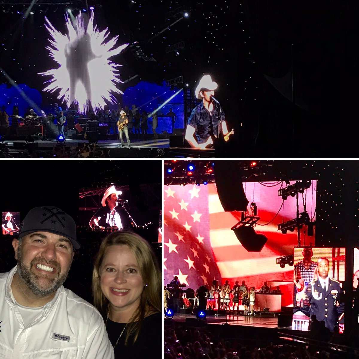 All American Friday Night with my Bride & @BradPaisley at @AmerisBankAmp #MudOnTires<br>http://pic.twitter.com/6DfhupPM1A