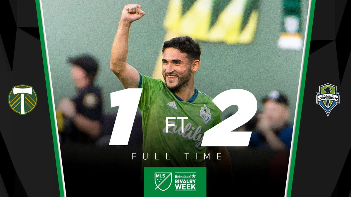 FT: @SoundersFC get the win and jump up to second in the West. #PORvSEA // Heineken #RivalryWeek