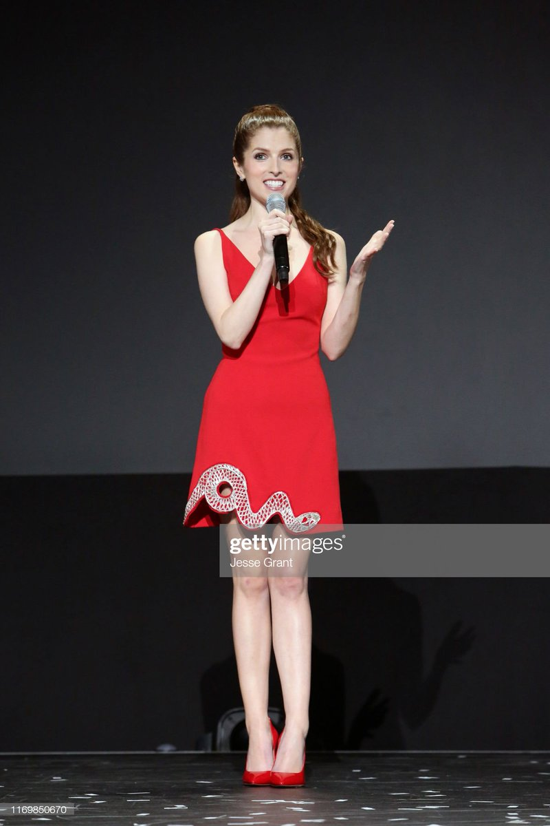 | Anna Kendrick of 'Noelle' took part today in the Disney+ Showcase at Disney's D23 EXPO 2019. #D23Expo<br>http://pic.twitter.com/DnbY5dBTrR