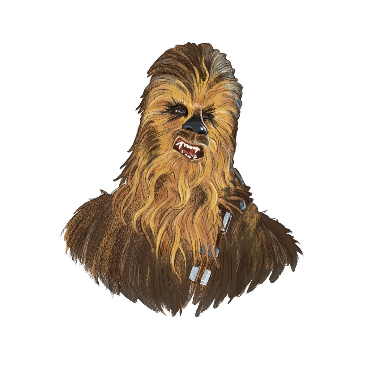 Some people get late night munchies. I get late night Chewie. (Part of a larger piece I'm working on.)#chewbacca #wookiee #starwars #myart #digitalpainting