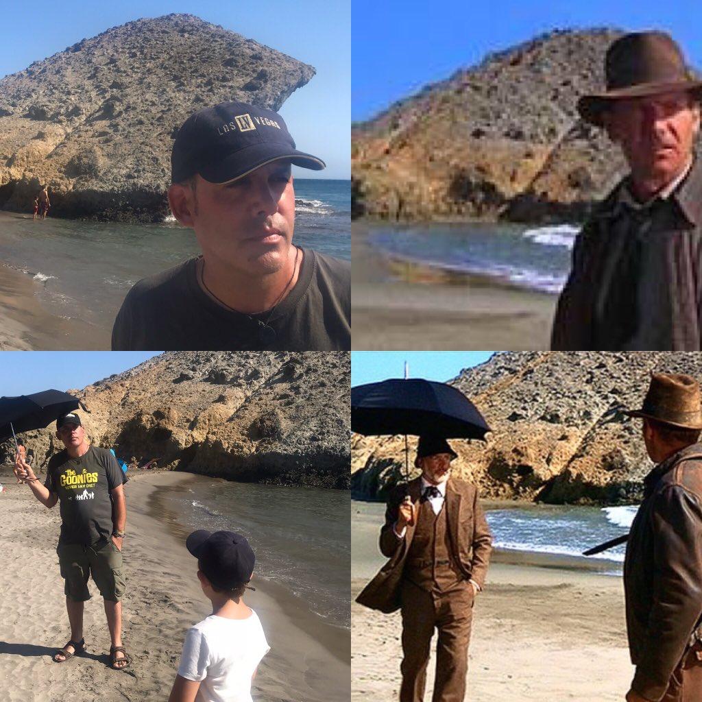 Estar en el mismo lugar donde estuvieron Harrison Ford, Sean Conery y Steven Spielberg rodando Indiana Jones y la última cruzada para mi es cumplir uno de mis pequeños deseos. Sean Comedy y Harrison Ford Mini, en este caso. @IndianaJones #seanconery #harrisonford #gorikostudiopic.twitter.com/NWiyjZ1pXo