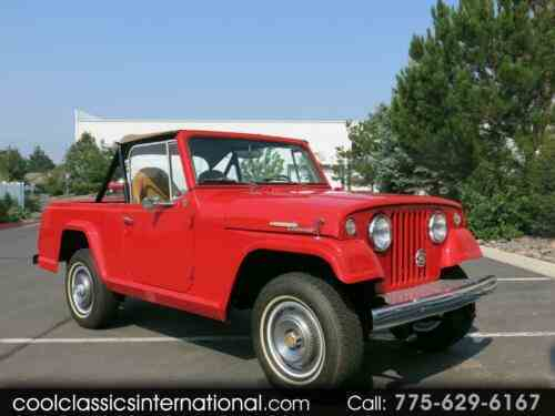 Jeep Jeepster Commando (1969) https://t.co/B3XkH1r6qf  #Jeep  1969 Jeep Jeepster Commando Stock #: 135 Exterior Color: Red Interior Color: Tan Transmission: Automatic Drivetrain: 4WD Engine: Dauntless 225cu in https://t.co/7h3FfuH1x3