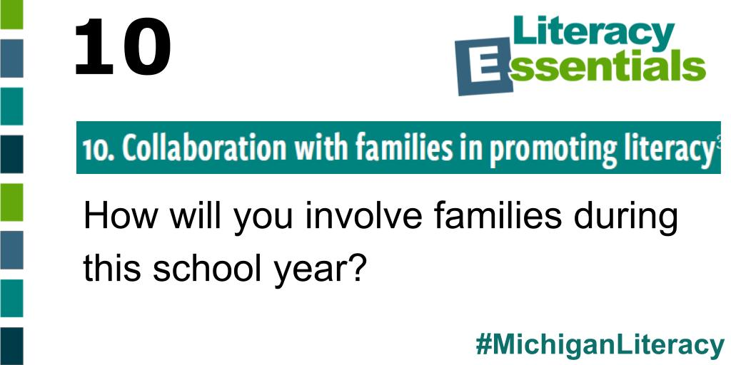 Q10: How will you involve families during this school year? #MichiganLiteracy<br>http://pic.twitter.com/AWGKZ5nRxA