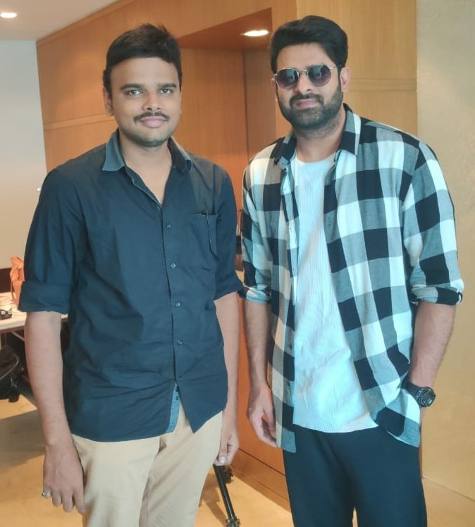 With #Rebelstar #Prabhas garu..  What a cool and chilled-out superstar   Best wishes for #Saaho  sir..<br>http://pic.twitter.com/FSMlA32W3J