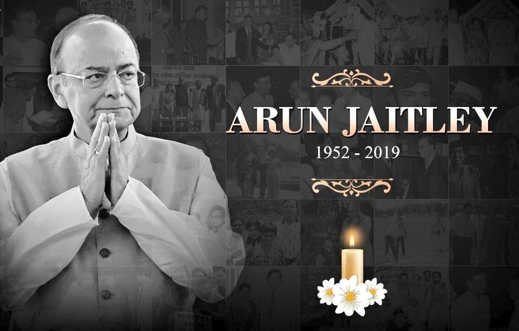 I offer my heartfelt condolences to the family & loved ones of Shri Arun Jaitley ji. I can say from experience he was a man with the highest integrity quotient. As the nation mourns, my thoughts are with his family in this time of grief. RIP #ArunJaitley