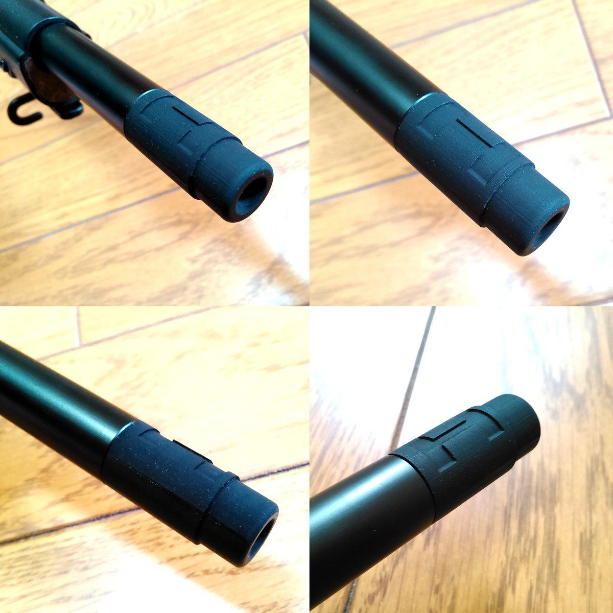 自分が欲しかったので、CAD勉強も兼ねてS&T製スプリングフィールドM1903を手軽にフロントサイトが無いA4(狙撃銃)風にできるマズルアダプターを作りました。ムダなこだわりポイントは、省力型の2条ライフリングの再現です。