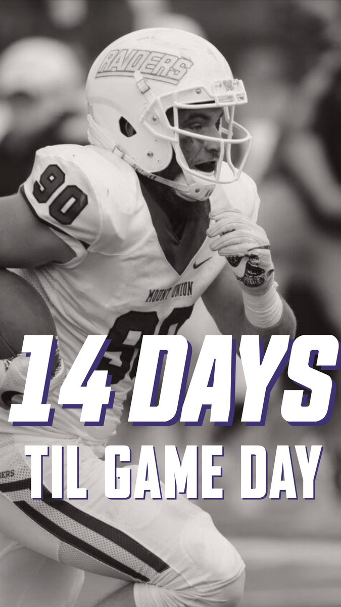 RT @MountUnionFB: College football games start today, Raiders fans still have to wait two weeks! https://t.co/lZVDyKSkzf