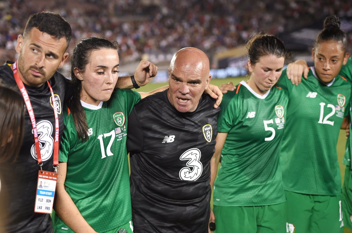 Tom OConnor has named his 20-player #IRLWNT🇮🇪 squad to play Montenegro @OSullivanDenise and Tyler Toland are in squad after missing the USA friendly @ClareShine01 and @StephanieRoche9 both return for the first time since 2017 ➡️fai.ie/ireland/news/i… #COYGIG🇮🇪