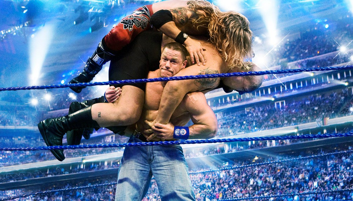One of the best WrestleMania moments.   Do you remember? <br>http://pic.twitter.com/RQvfH98nUA