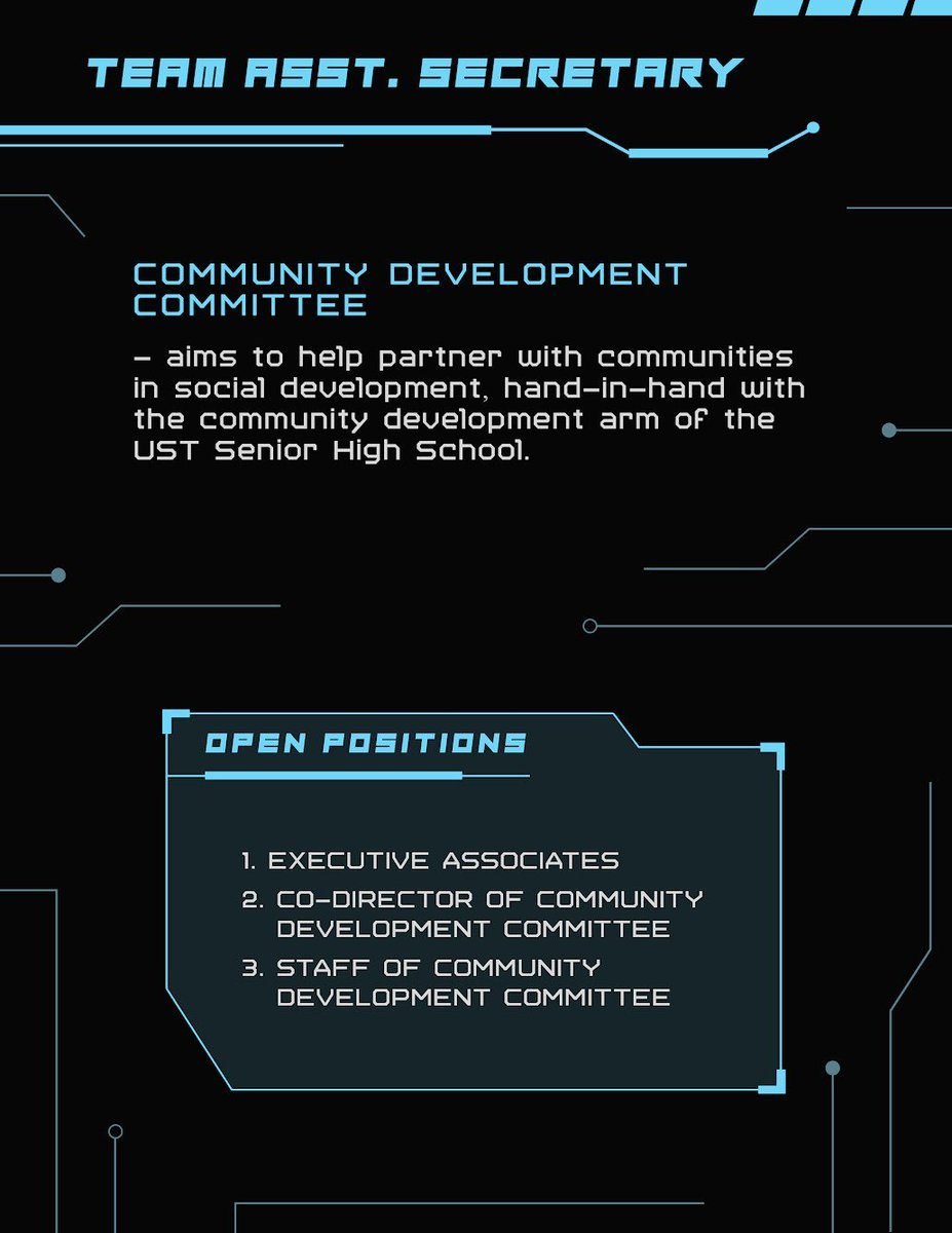 Team Assistant Secretary #ASSECNgLagim #TheQuest2019 (5/11)
