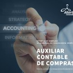Image for the Tweet beginning: Buscamos auxiliar contable de compras
