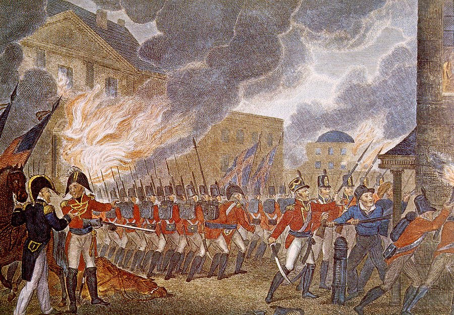 US Capitol and White House were torched by British invaders 205 years ago today: