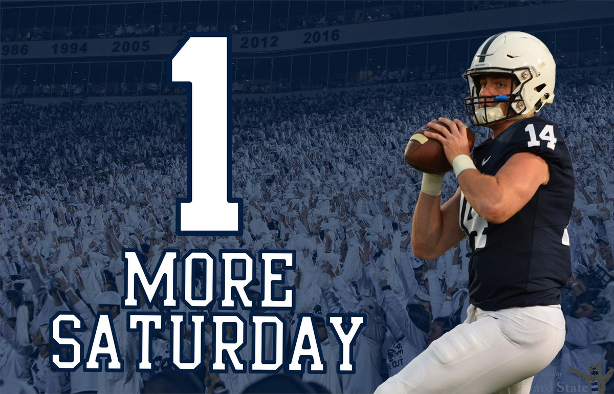 RT @OnwardState: ARE YOU READY FOR PENN STATE FOOTBALL?! https://t.co/Vy5bo6qBJq