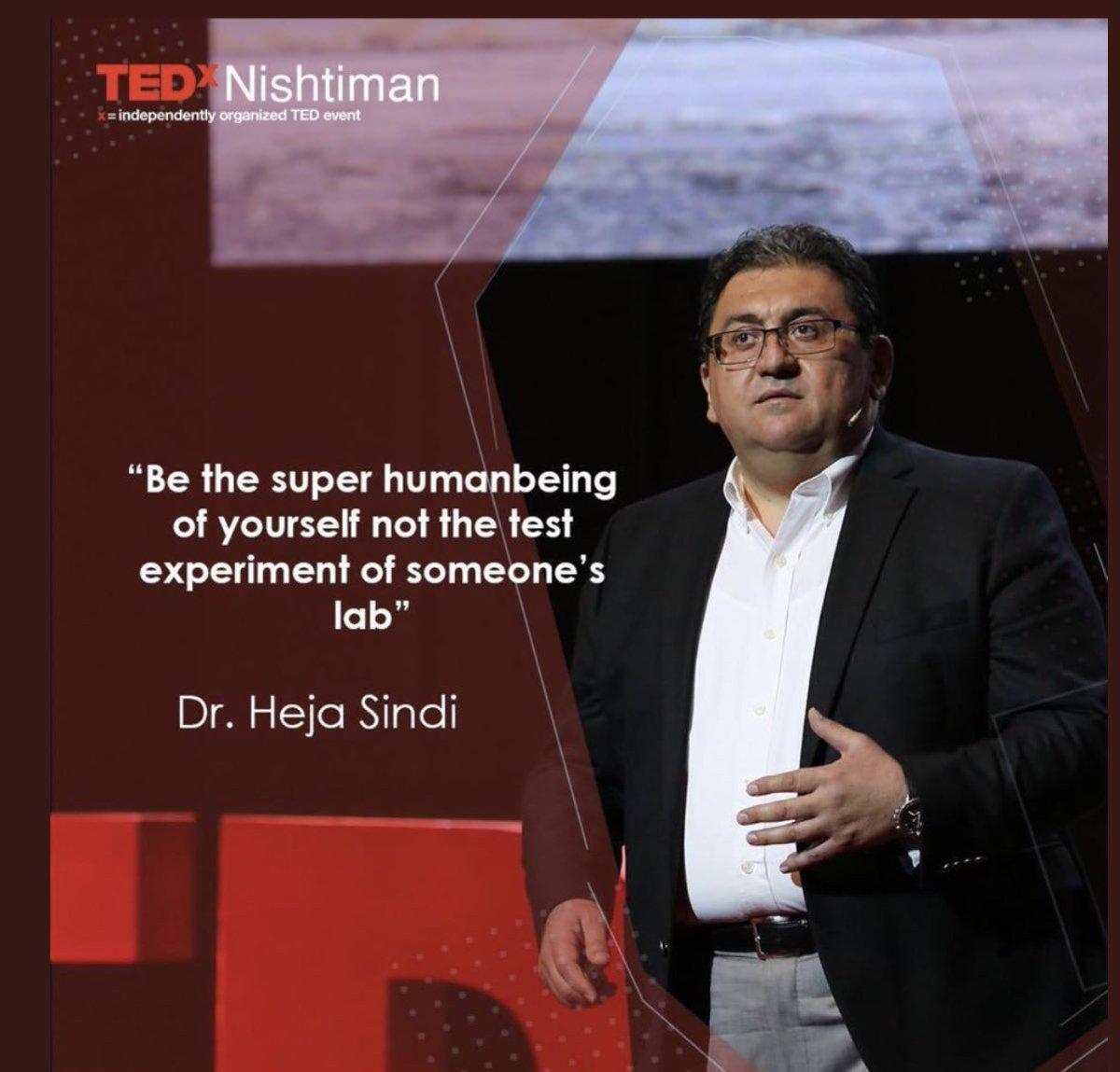 My fav profissor Dr.@HejaSindi today at @TEDxNishtiman stage gave his very inspirational speech.  #TEDxNishtiman2019 #TEDxNishtiman <br>http://pic.twitter.com/zNNQoQZez7