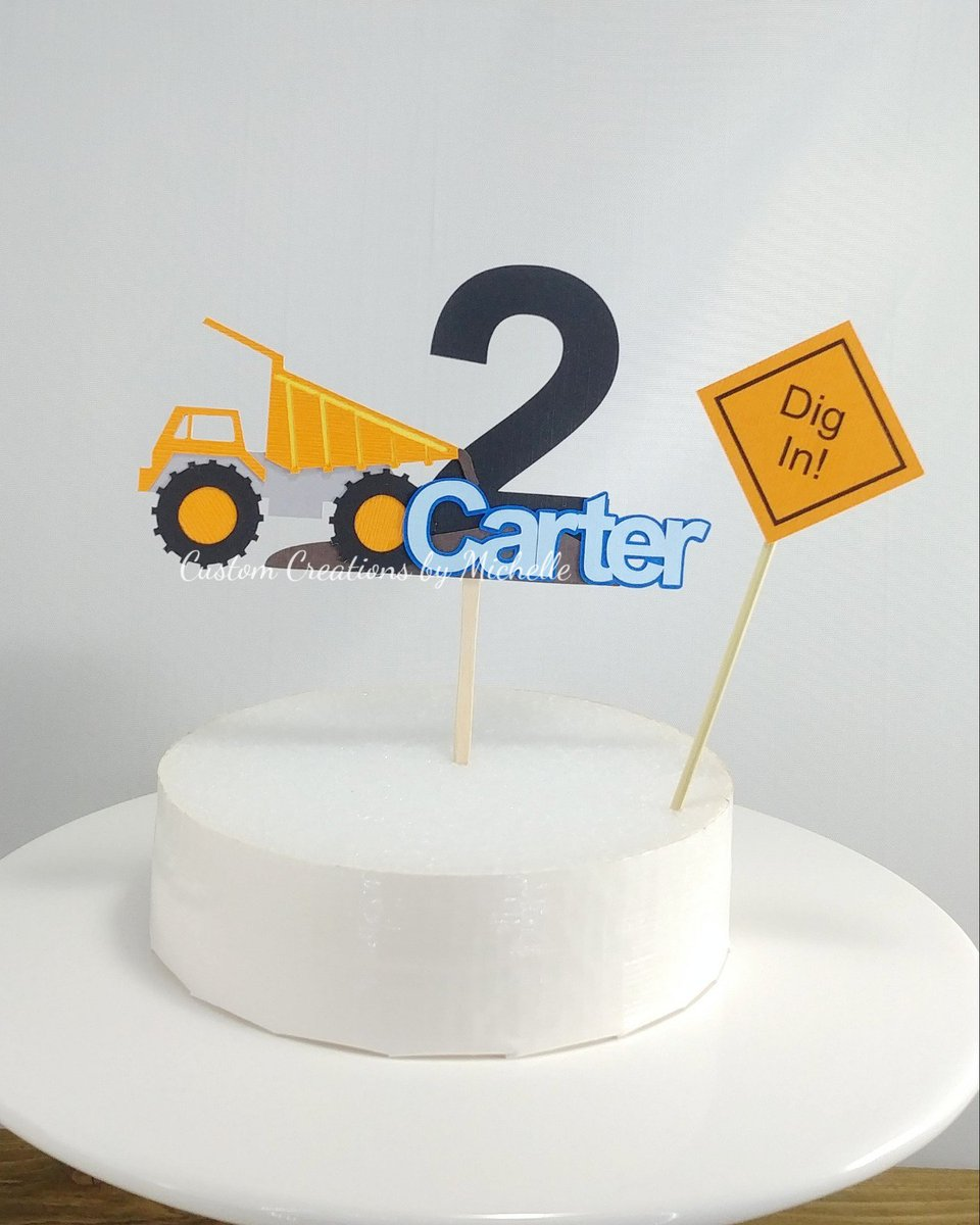 Seriously, I wish I could keep all my creations, I love with all of them.  I made this #construction cake topper is for a special little boy.    Happy 2nd birthday, Carter!    https://t.co/PIR94bIXpr @Etsy #constructionparty #truckparty #Custom https://t.co/lSBdhKBEUM