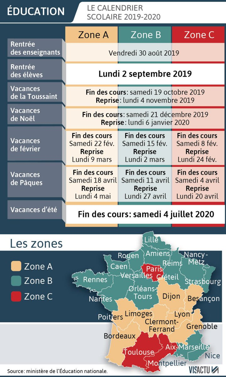 Calendrier Scolaire 2020 2019.Lycee Simone Weil Dijon On Twitter Le Calendrier Scolaire