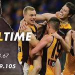 Image for the Tweet beginning: THE MIGHTY FIGHTING HAWKS!!!!   💛💛💛💛💛💛💛  #AFLEaglesHawks