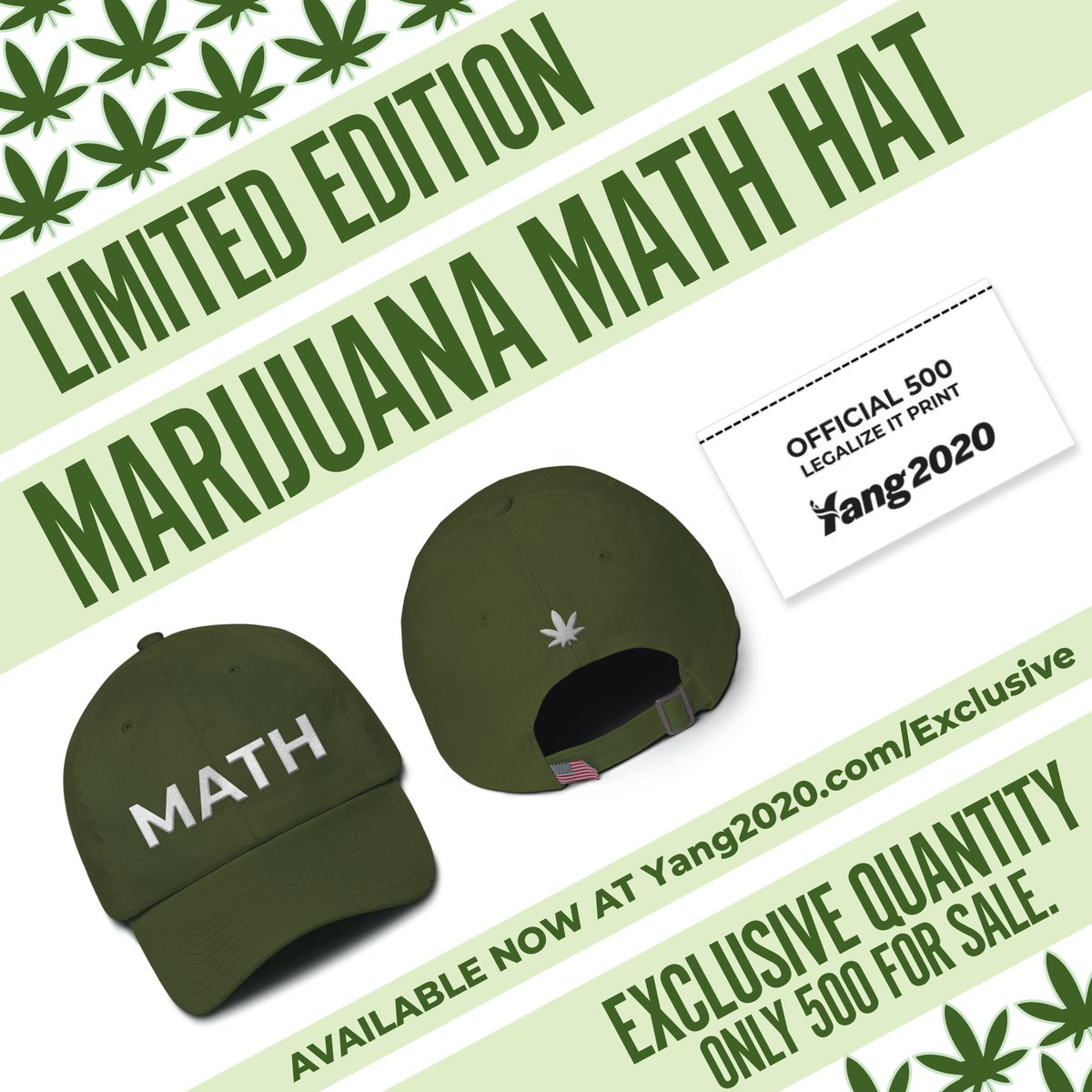 Andrew Yang Peddles Marijuana-Themed Presidential Campaign Merchandise
