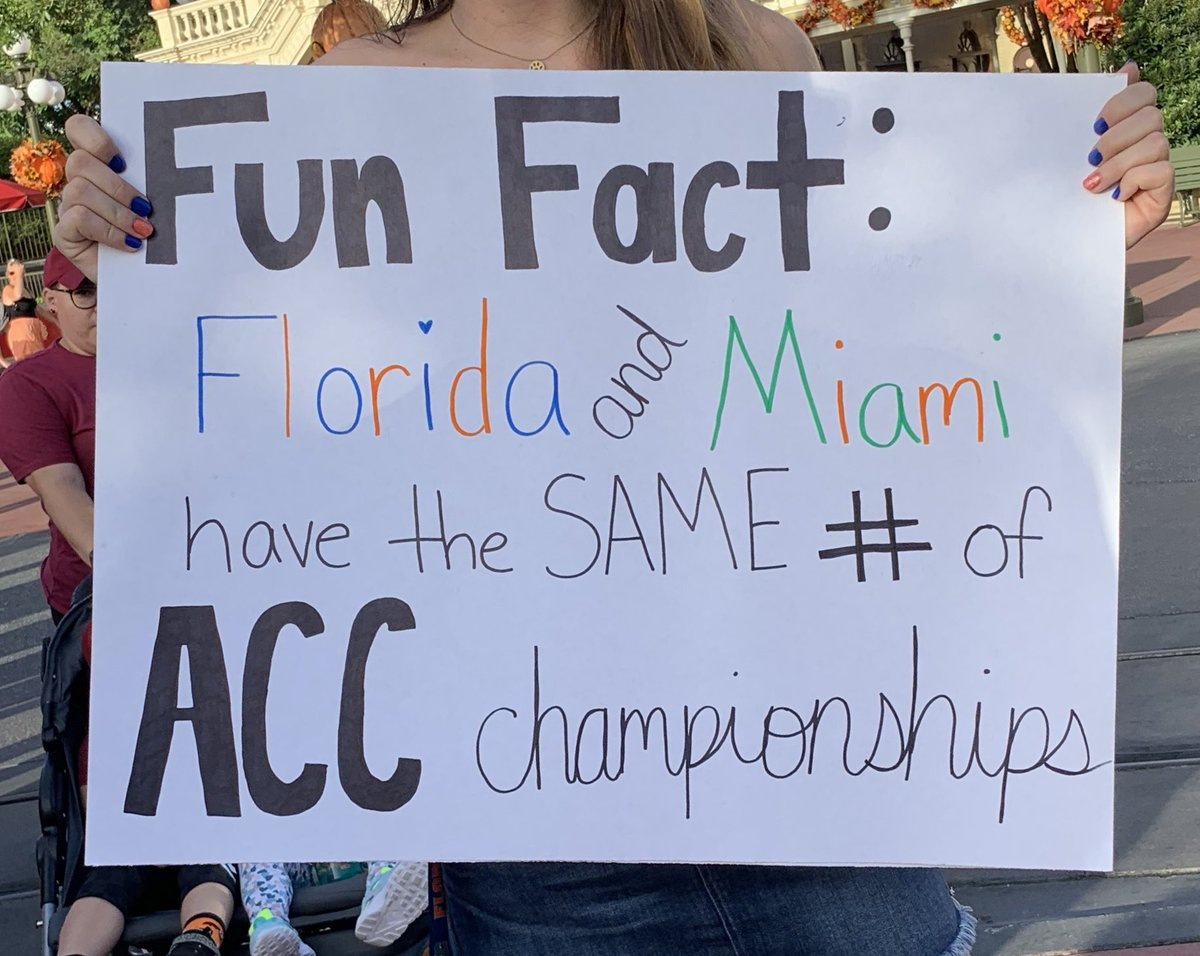 Florida Fan Takes Shot At Miami With GameDay Sign