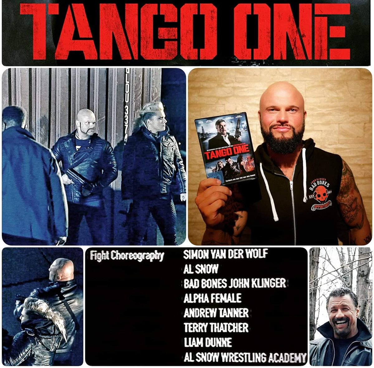 Just watched #TangoOne the #AMAZING Movie produced by Universal Pictures & @ThreeWMonkeys presented by Universum FilmI guess @therealalsnow @jazzygabert & myself turned Heel #universalpictures #universal #threewisemonkeys #universum#movie #dvd #production #actor #stuntman #aew