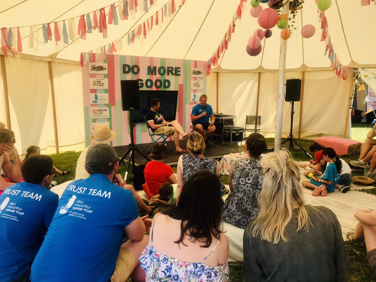 A full house in the Inspiration tent @Carfestevent to hear how our @emctrust trips transformed skipper Dans life ✨#DoMoreGood #ConfidenceafterCancer