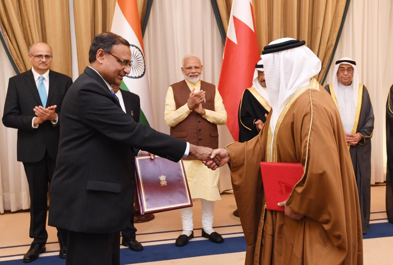 India, Bahrain sign agreements in fields of Culture, Space