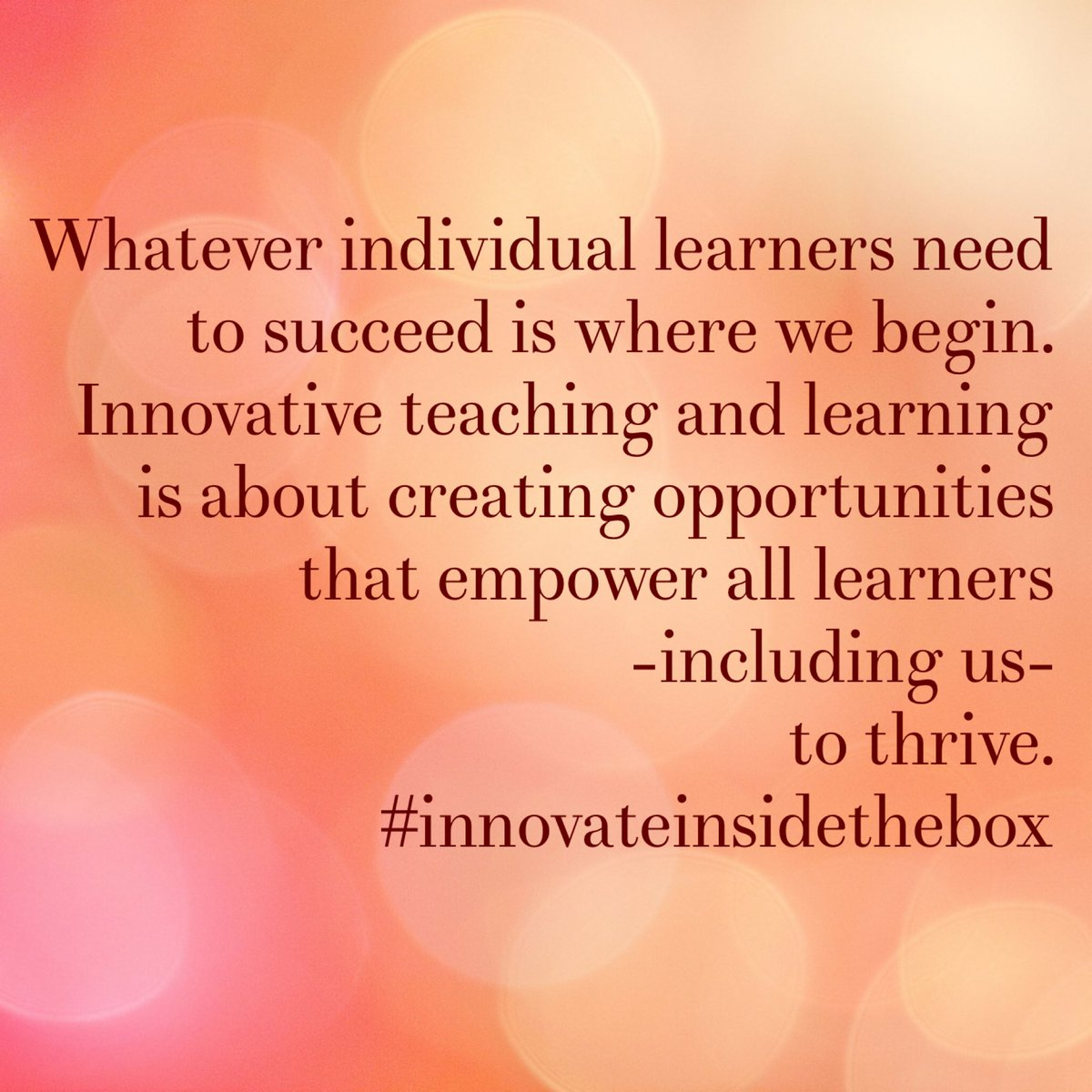 A2: I think this slide is appropriate from my reading of #InnovateInsidetheBox #leadlap