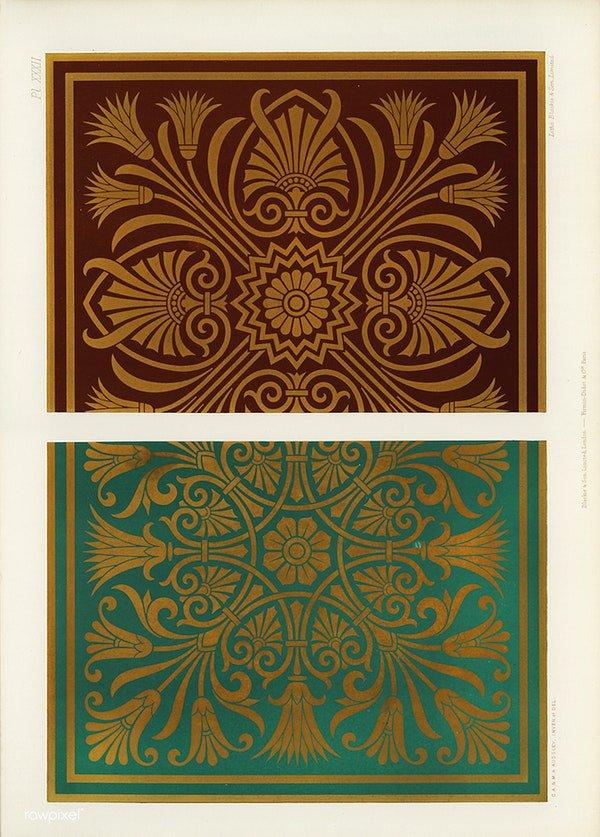 Neo-Grec pattern from The Practical Decorator and Ornamentist (1892) by G.A Audsley and M.A. Audsley. Digitally enhanced from our own original first edition of the publication. Download this image: https://t.co/9TPjKmrhFt https://t.co/xLdXK4Xuhj