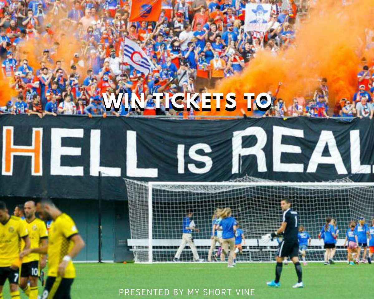 #HELLisREAL GIVEAWAY   Retweet to win a pair of tickets to tomorrow's #CINvCLB match! Tag a friend you'd take with you, or a #Crew96  friend that will be sad tomorrow. Must be following.  Winners contacted tomorrow morning. Good luck.  #FCCincy  #Giveaway #CincyOverCbus<br>http://pic.twitter.com/NLrPW9hFRu