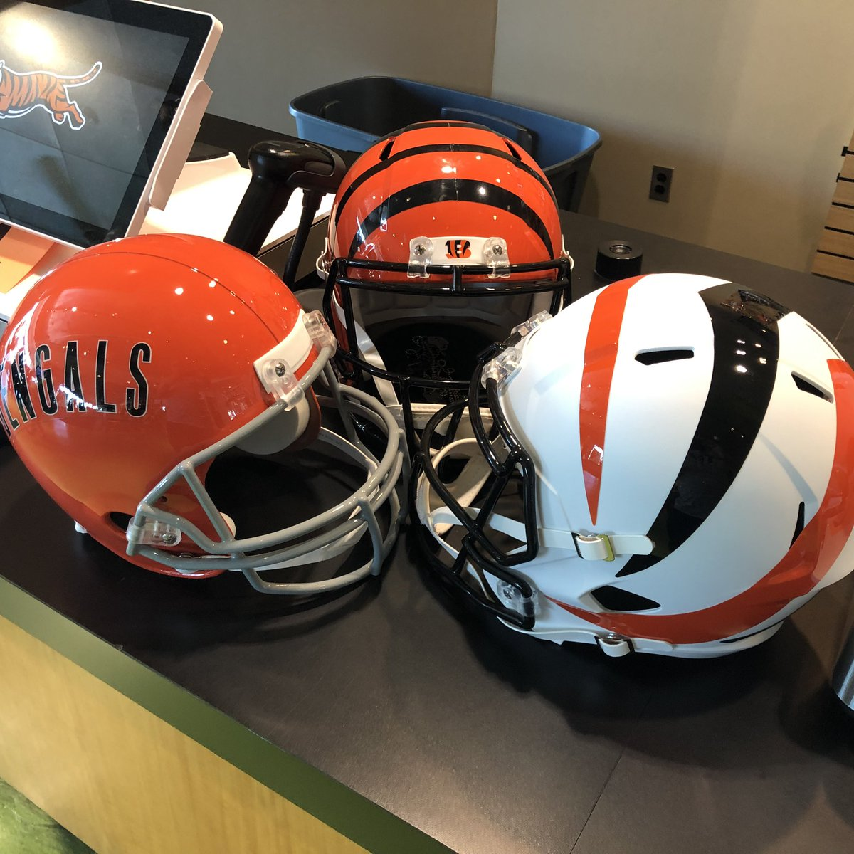 RT @bengaljims_BTR: At the @BengalsProShop   Left to right A B or C your thoughts   #bengals #newdey #whodey https://t.co/MuwdJLme7P